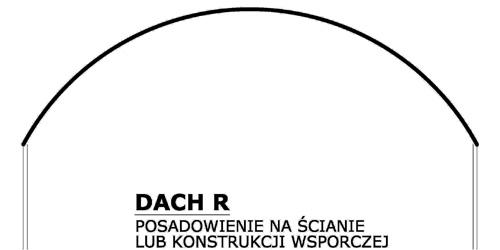 Prefabrykowane hale łukowe - hala łukowa w formie samonośnego dachu łukowego na ścianie lub konstrukcji.