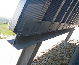 Prefabrykowane hale łukowe - hala łukowa zastosowana jako lekki łukowy dach na konstrukcji stalowej.