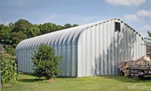 Galeria hal łukowych. Stalowe hale łukowe typu D - hala łukowa jako budynki gospodarcze w rolnictwie - samonośny magazyn łukowy.