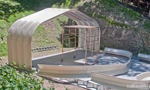 Galeria hal łukowych. Samonośne hale łukowe typu D - hala łukowa składa się z prefabrykowanych lekkich przęseł łukowych, łatwych do montażu.