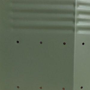 Hala łukowa kolorowa - panel łukowy hali prefabrykowanej pomalowany gruntoemalia Aksikor RAL 6002 (kolorowe hale łukowe)