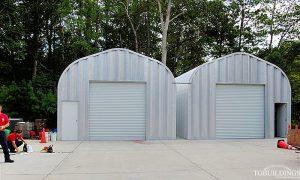 Galeria hal lukowych. Prefabrykowana, stalowa hala łukowa - hale łukowe jako samonośne, lekkie gospodarcze magazyny / garaże .